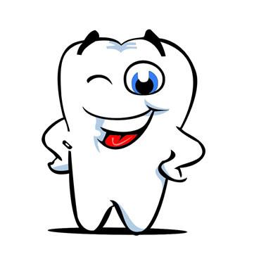 牙齿简笔画可爱图片